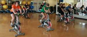 Miami University students participate in Spinning, one of the most popular classes. Photo Courtesy of Miami University Recreation