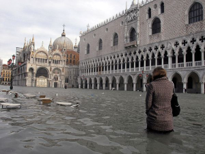 Flooding in Venice, Italy, 2008. Courtesy of National Geographic
