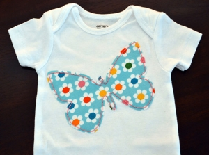 Jennifer Kohl Hanley of Hound Dog Designs (and Miami graduate), embroidered onesie