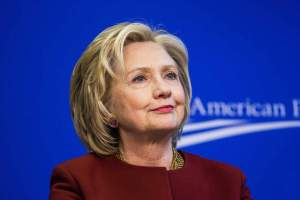 23 Mar 2015, Washington, DC, USA --- Former U.S. Secretary of State Hillary Clinton takes part in a Center for American Progress roundtable discussion on